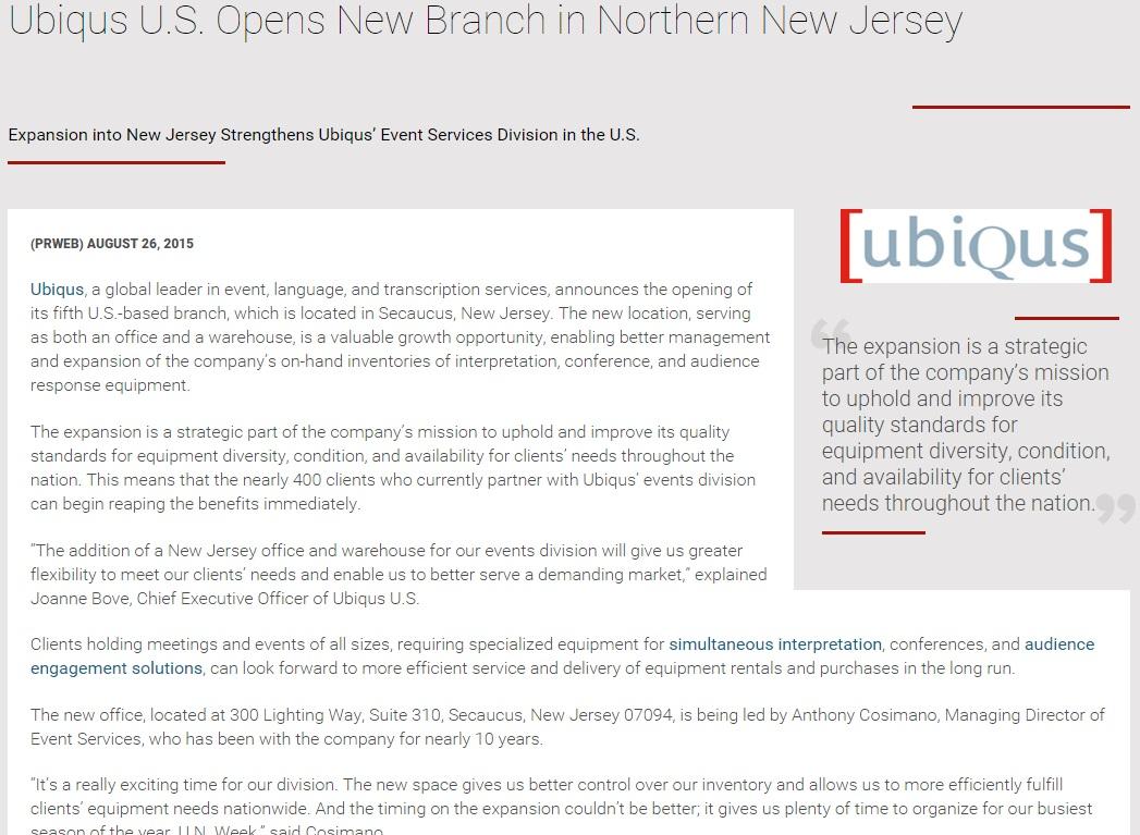 Ubiqus-NJ-Office-Press-Release