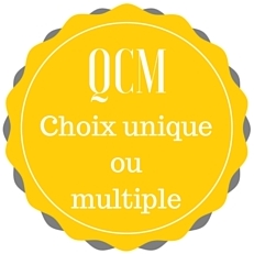 Badge QCM Choix unique ou multiple