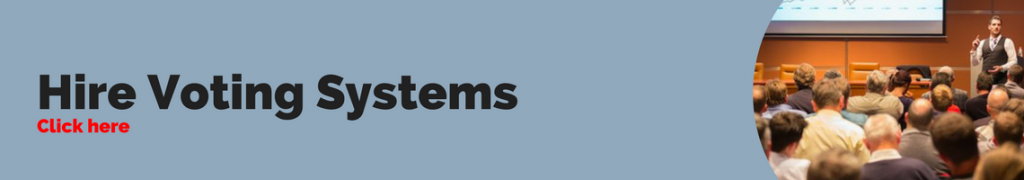 Hire Voting Systems Banner