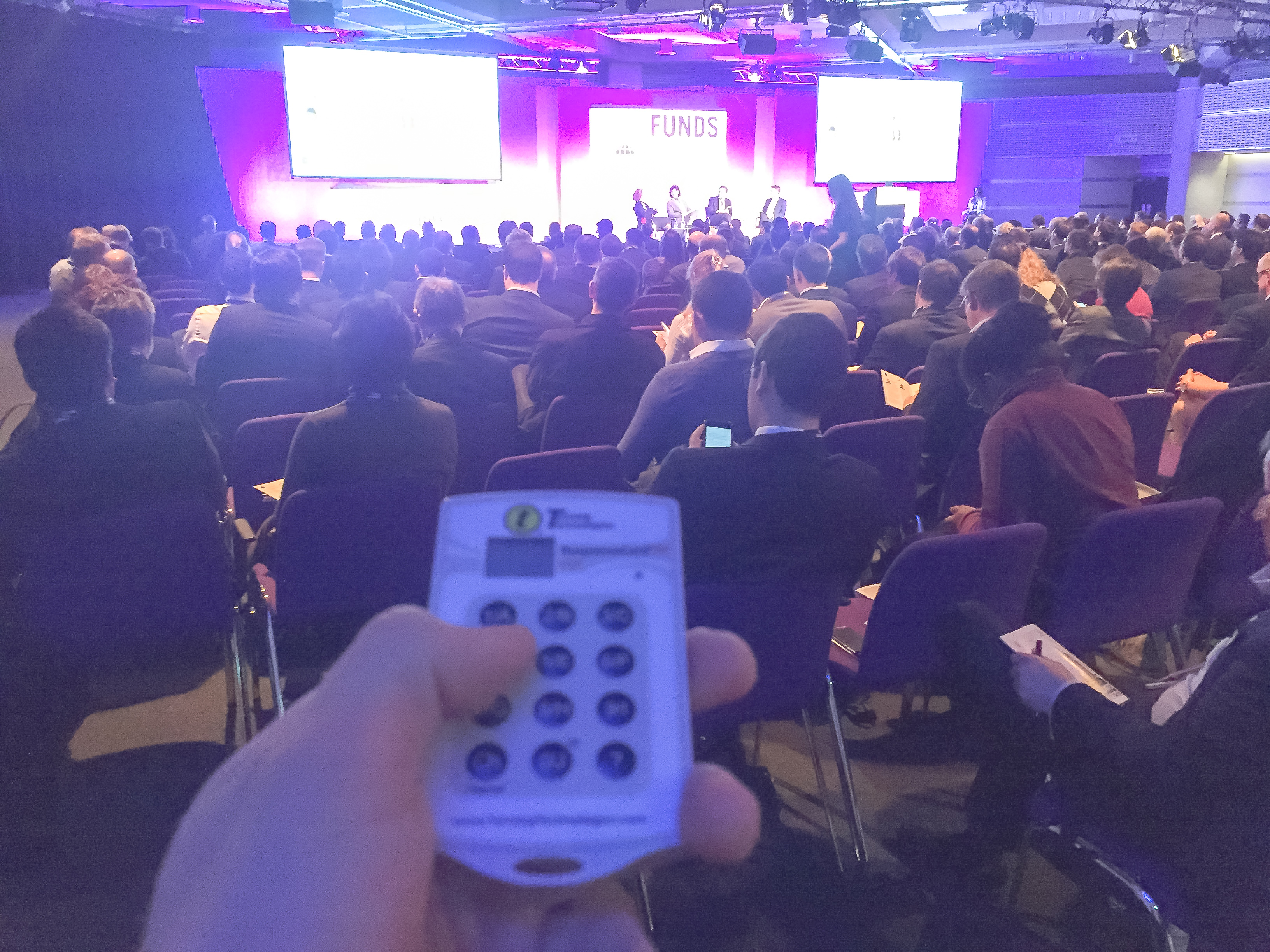 Voting System Turning Point Keypads at Event